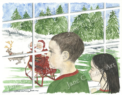 Christmas card 2015, art, jane c jones